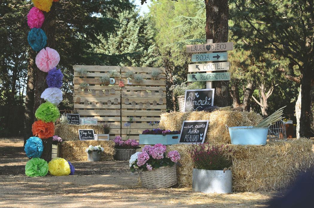 Decoración personalizada para bodas en Finca El Albero