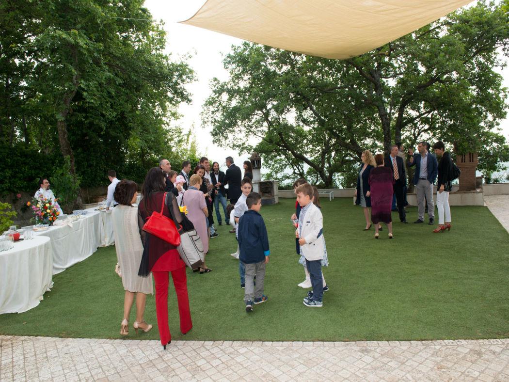 La Locanda del Pontefice Buffet giardino terzo livello