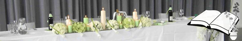 Beispiel: Tischdekoration, Foto: Deko Dana.