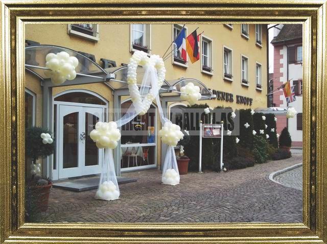 Beispiel: Luftballons Hochzeit, Foto: Ballon AS.