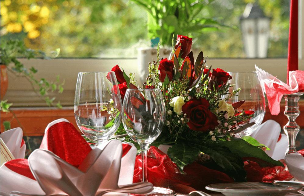 Beispiel: Tischdekoration, Foto: Hotel Landhaus Seela.