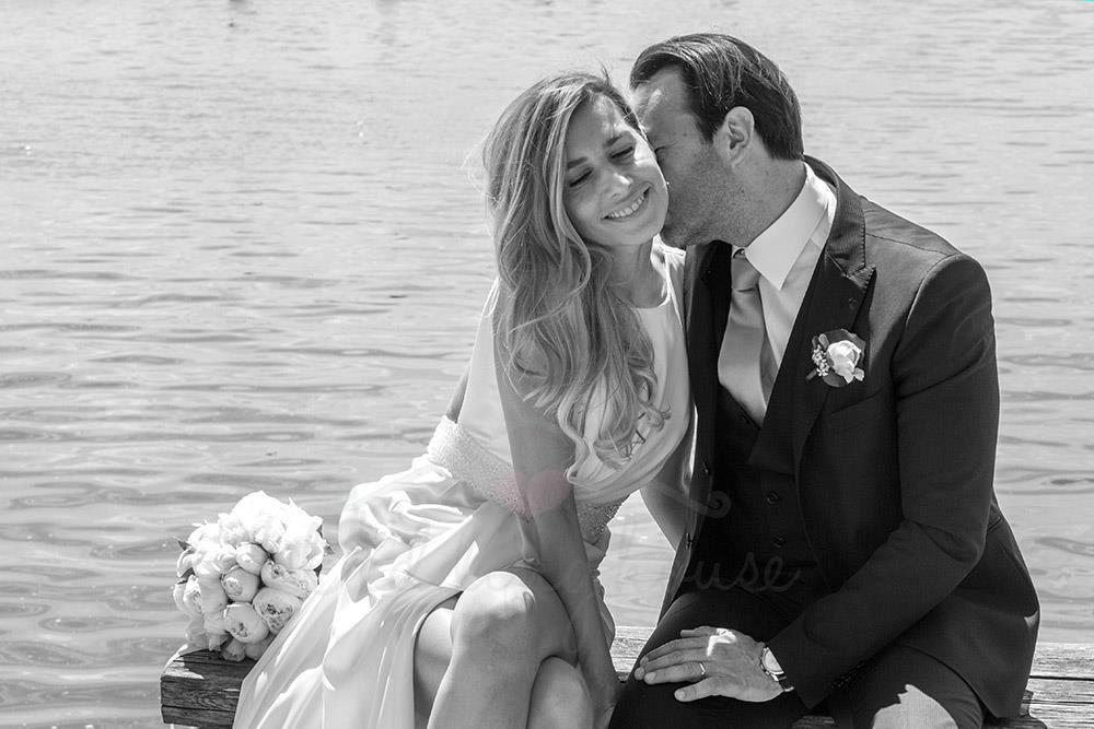wedding house bride and groom