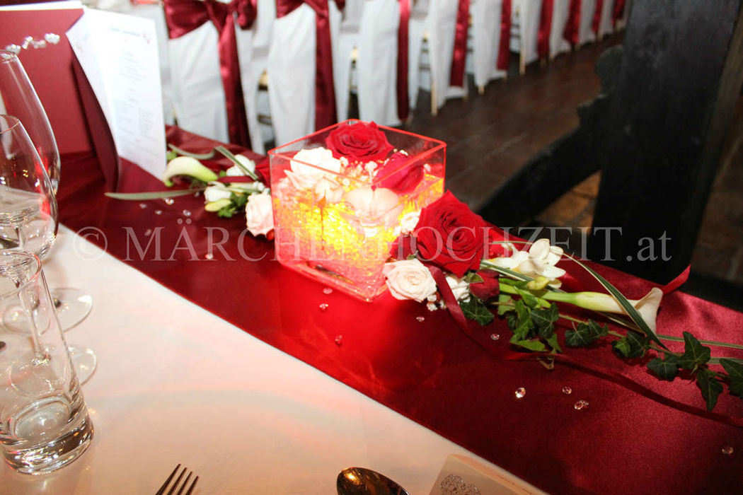Beispiel: Hochzeitsdeko, Foto: Märchenhochzeit.
