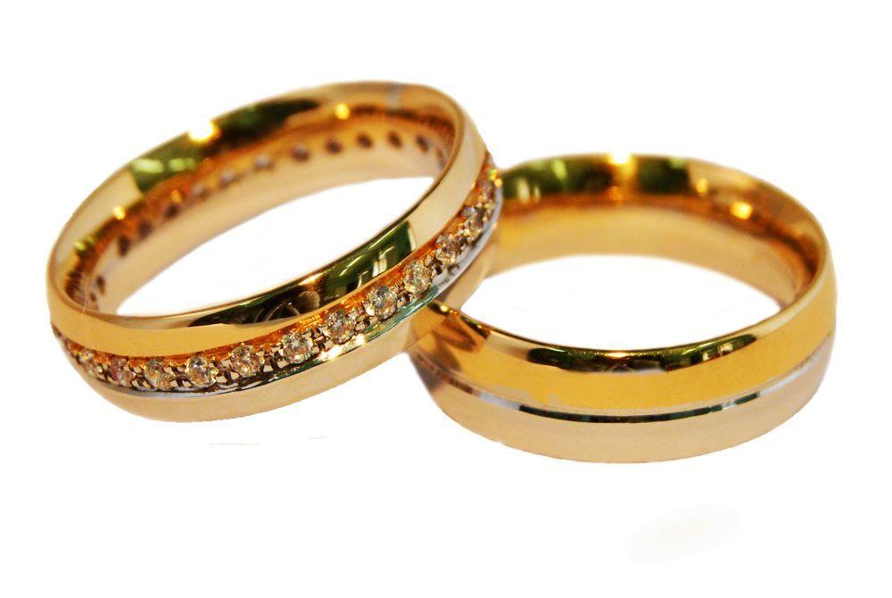 Alianças Casamento Bicolores ALBIC17