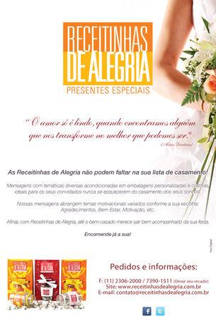 Newsletter Receitinhas de Alegria - Casamento 2