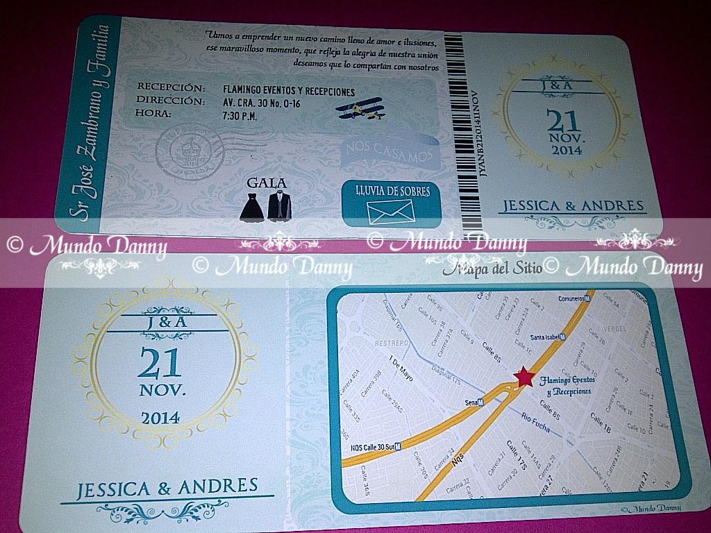 Invitaciones Boarding Pass