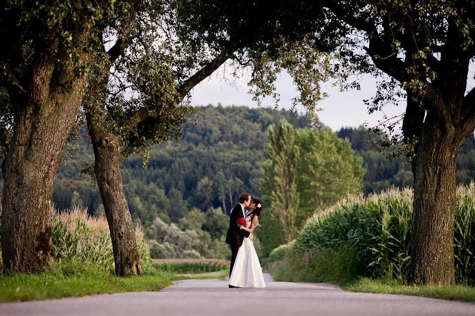 Hochzeit in Schloss Ernegg. Brautpaarfotos.  Hochzeitsfotograf: Steven Lin - www.myshoot.at