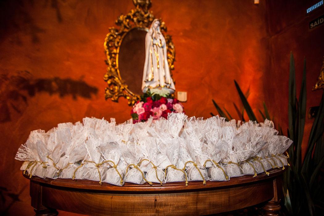 Nossa Senhora de Fátima abençoando nossos eventos! Mesa de bem casados.