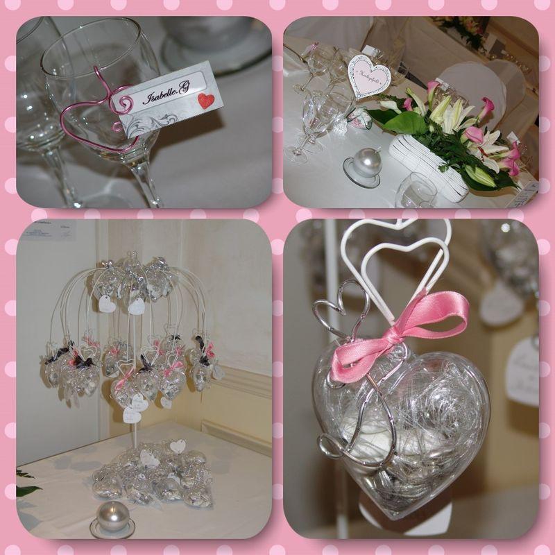 décoration de salle, en gris. conception de dragées, plan de table...