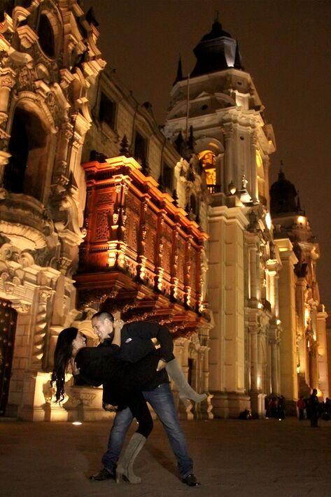 Plaza Mayor de Lima Pre Boda nocturna