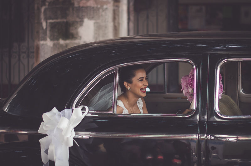 novia feliz