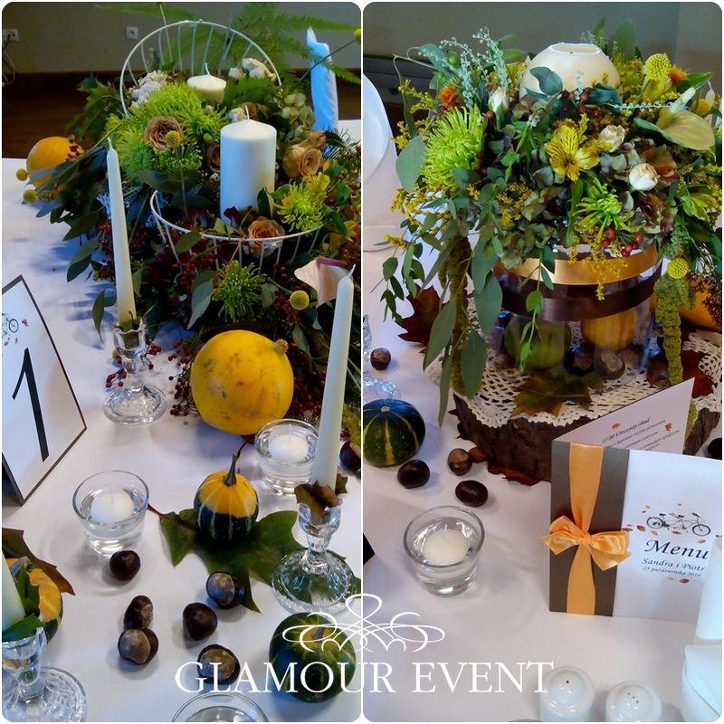 Romantyczne wesele w jesiennej stylizacji. fot. b&b studio