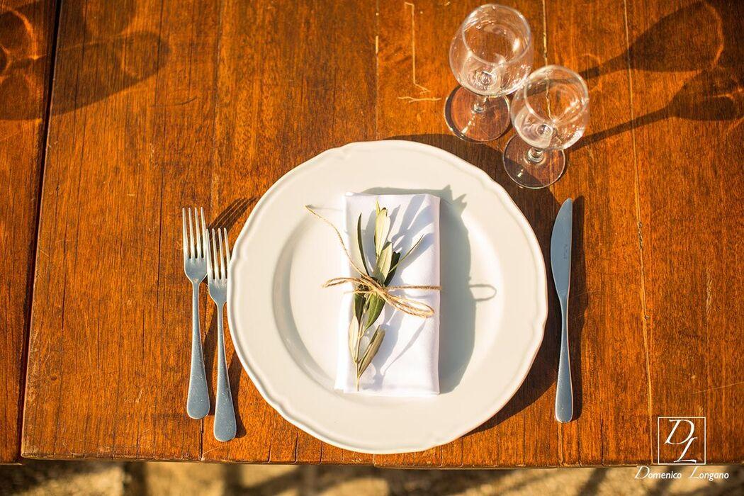 il tavolo allestito