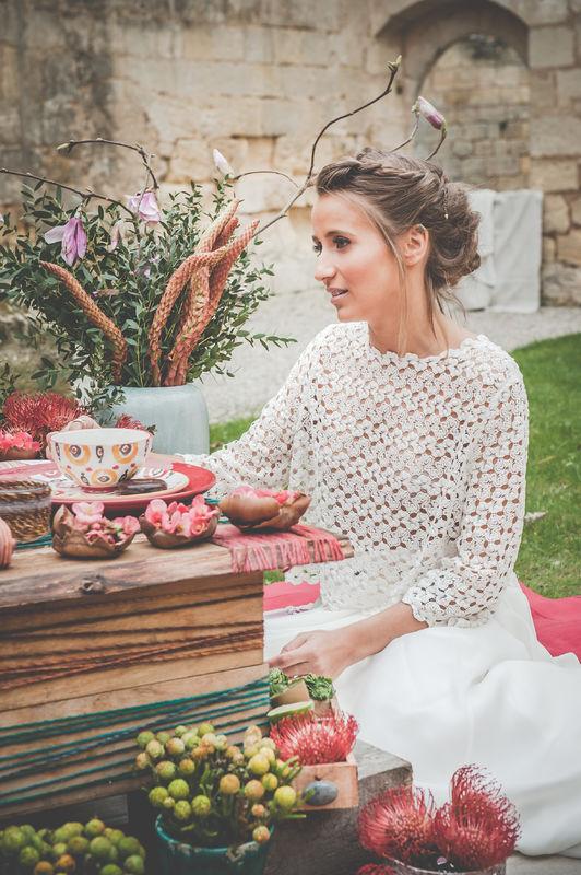La mariée et son décor