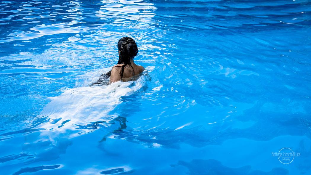 sposa in acqua
