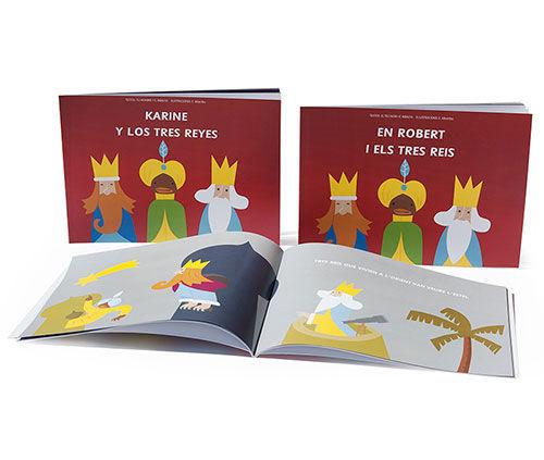 Los tres reyes y...  Pensado para explicar la historia de los Tres Reyes Magos a los peques de la casa.
