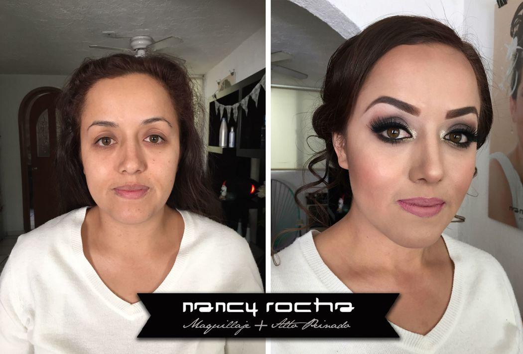 Nancy Rocha Maquillaje y Alto Peinado