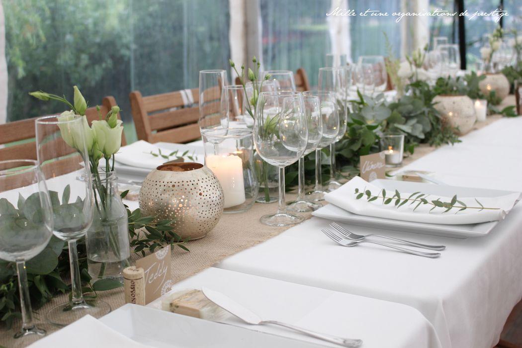 table mariage bohème sous chapiteau