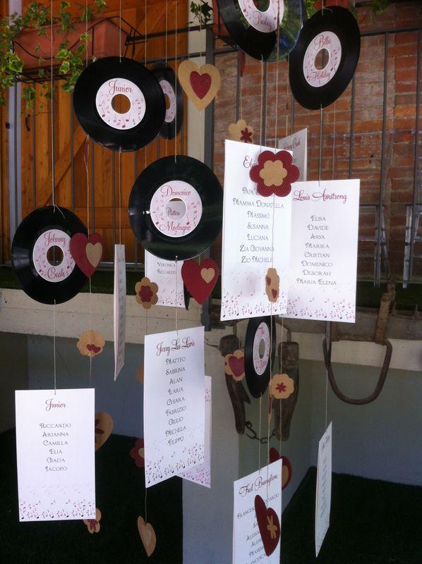 Tableau du mariage per matrimonio tema musica