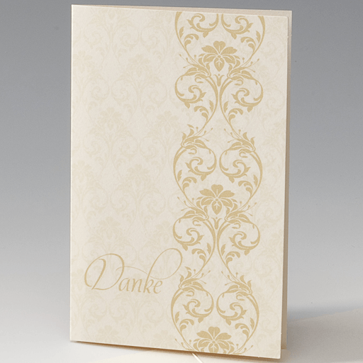 Beispiel: Dankeskarte, Foto: Stangl-Druck - Belarto.