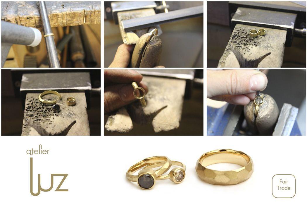 Zo worden ringen gemaakt in het atelier.