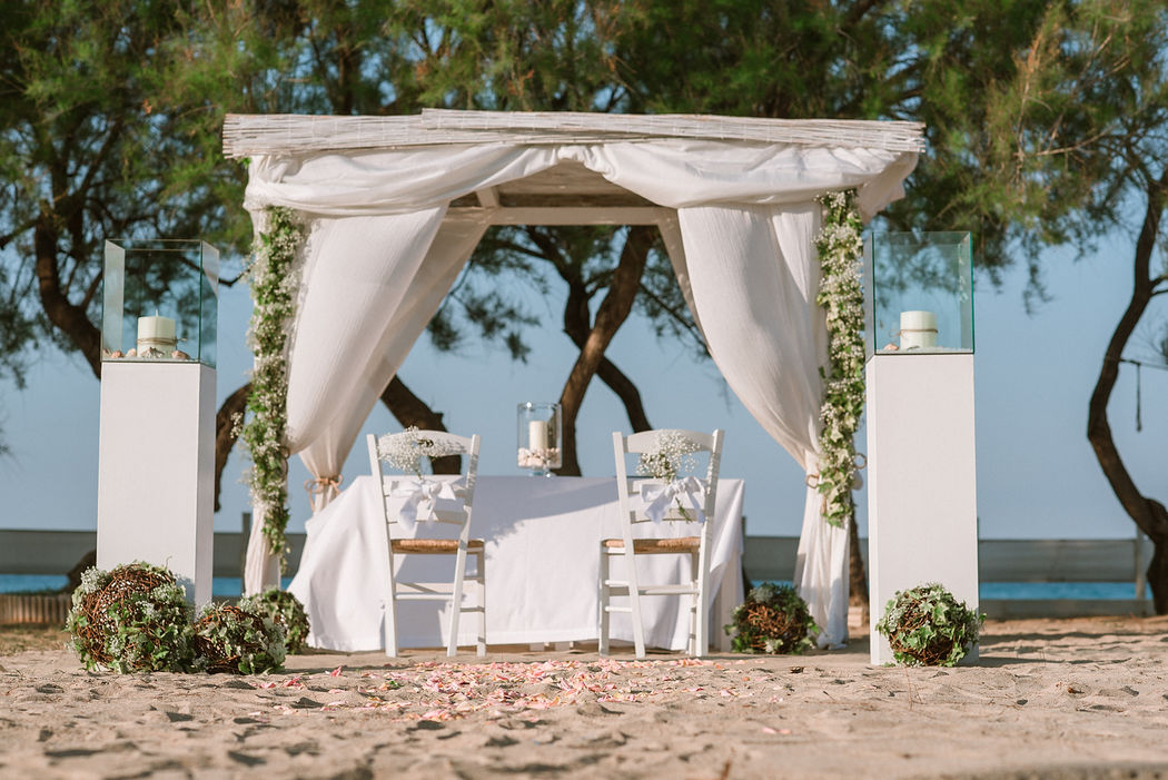 allestimento nozze spiaggia