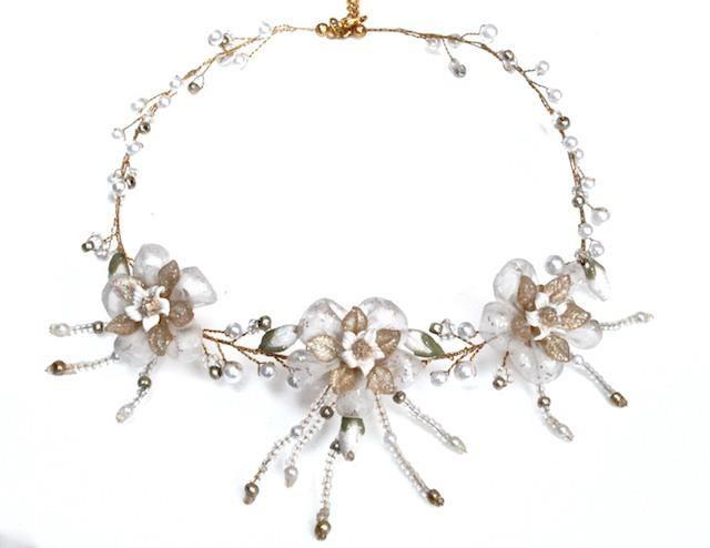 Arya Italian Jewels - Gioielli Sposa e Matrimonio - Collana Sposa  con fiori