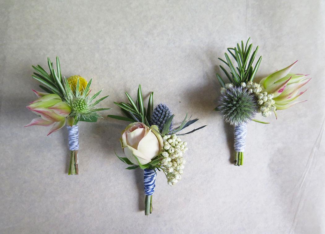 Herbes Fauves - Trio de boutonnières