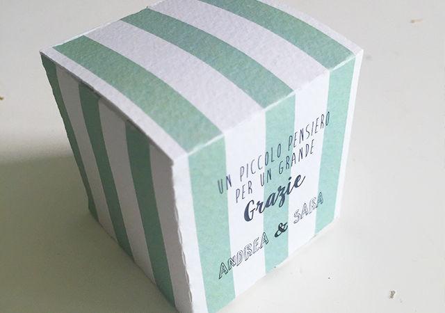 Box porta confetti Party Stripes