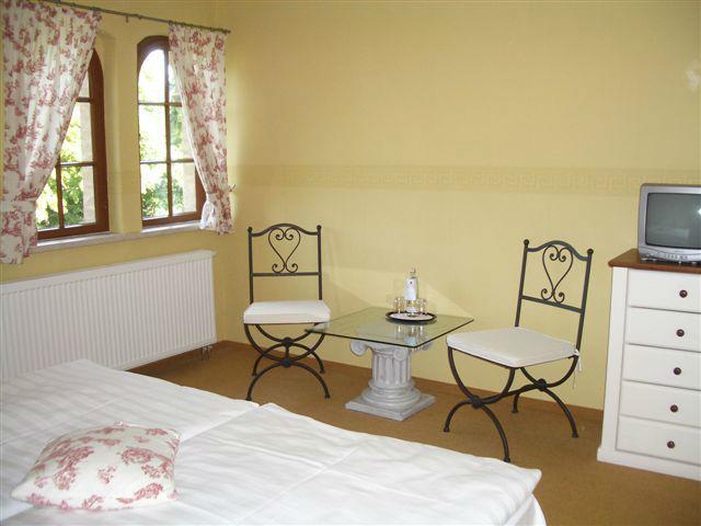 Beispiel: Sitzecke im Zimmer, Foto: Schloss Neetzow.