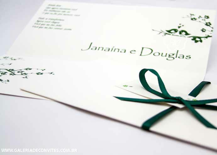 convite de casamento modelo JD