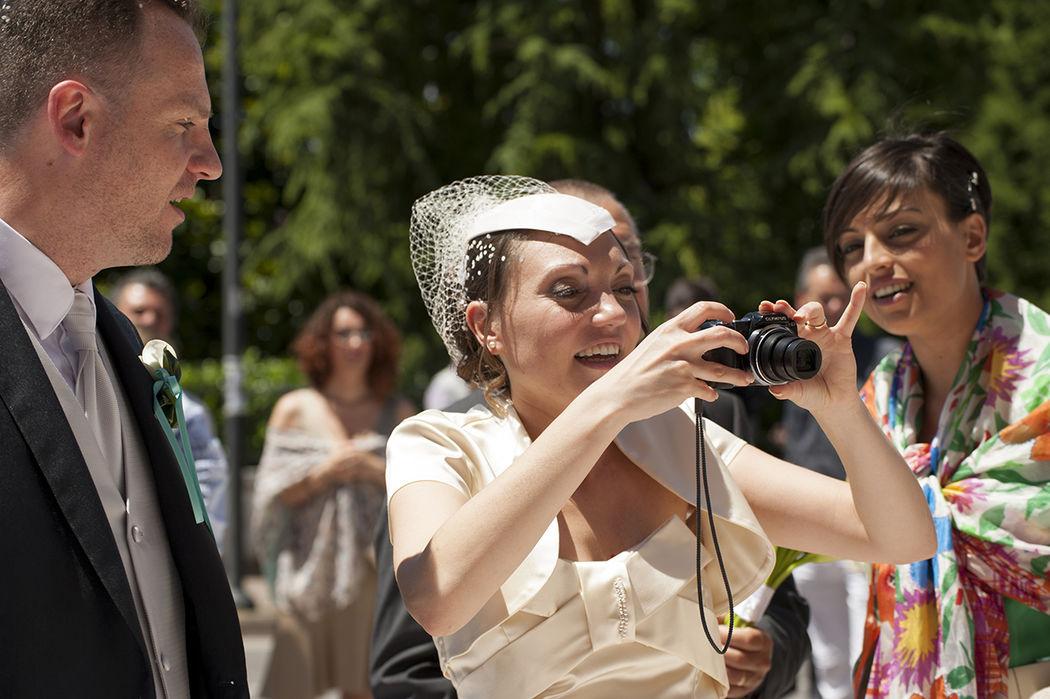La sposa fotografa