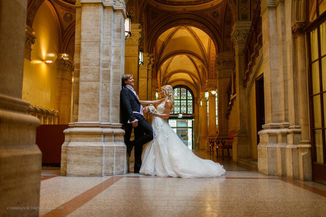 Brautpaar und Hochzeit in Wien - Wedding Planner Prime Moments - Foto Markus Schneeberger