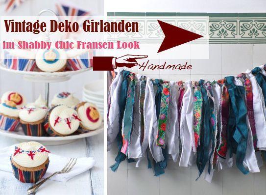 Hochzeitsgirlanden Vintage Shabby Chic - Handmade - LoveLi Hochzeitsplanung Onlineshop