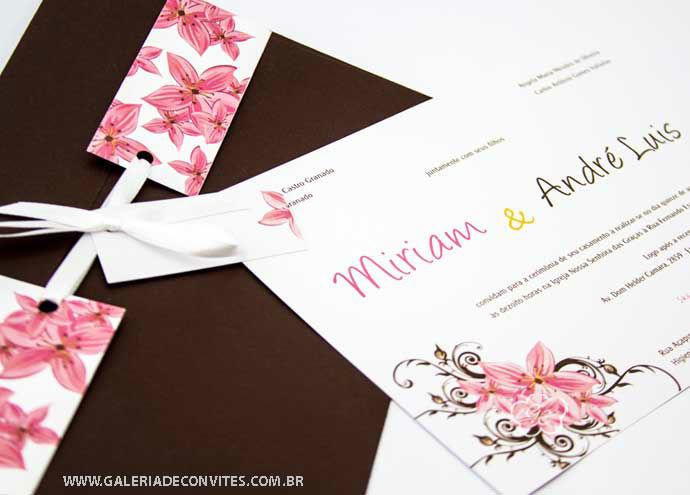 convite de casamento modelo 41