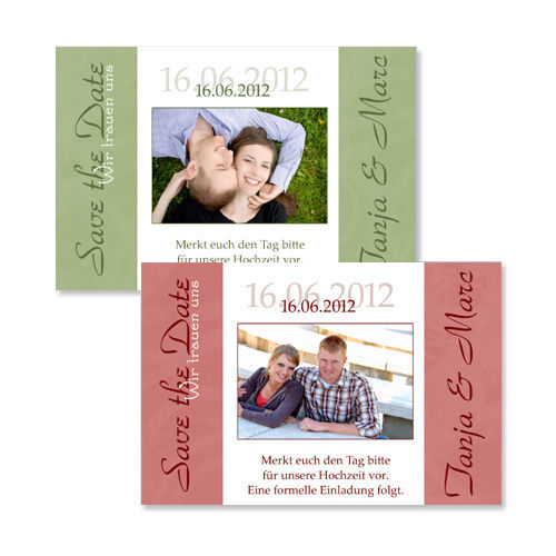 Beispiel: Save the Date Karte, Foto: Colli-Cards.