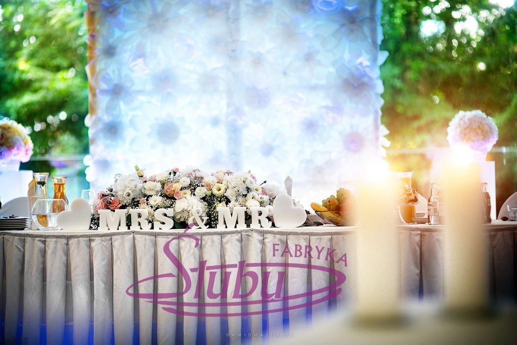 Dekoracja sali weselnej Artis Moderówka