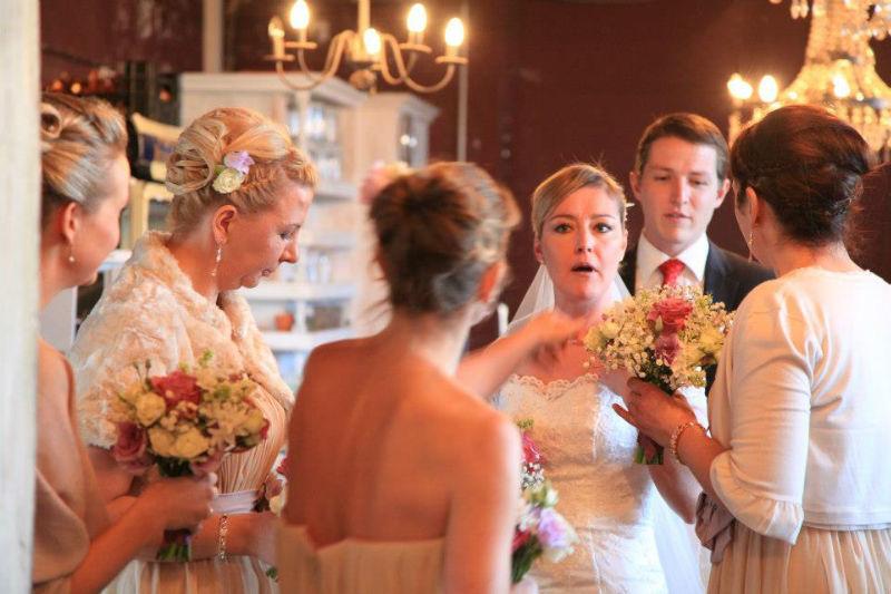 Beispiel: Hochzeitsgesellschaft, Foto: Die Alte Gärtnerei.