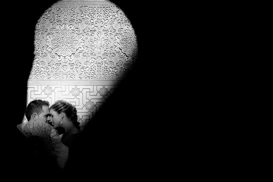 fotografía post-boda en la Alhambra