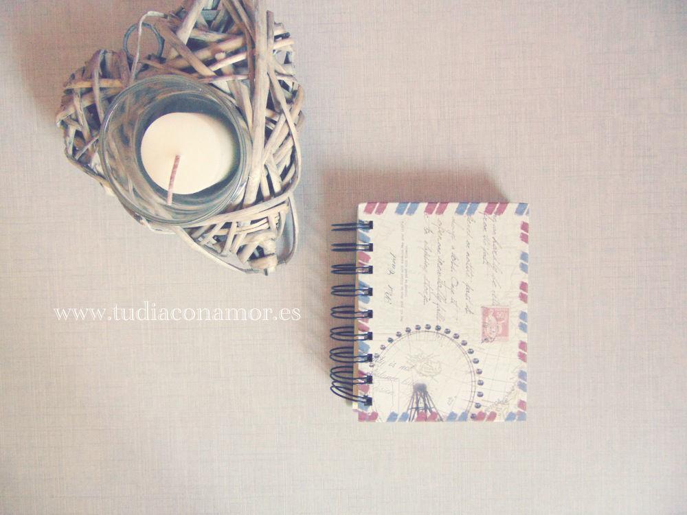 Libretas vintage ciudades, detalle de boda cuaderno notas