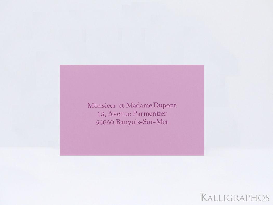 Kalligraphos | Enveloppes personnalisées