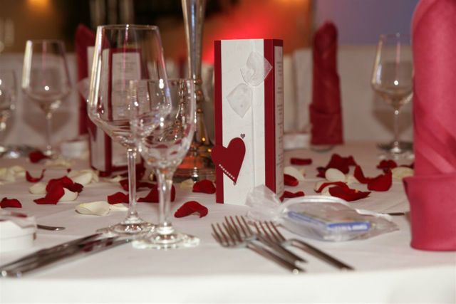 Beispiel: Tischdekoration, Foto: Vineria Nürnberg.