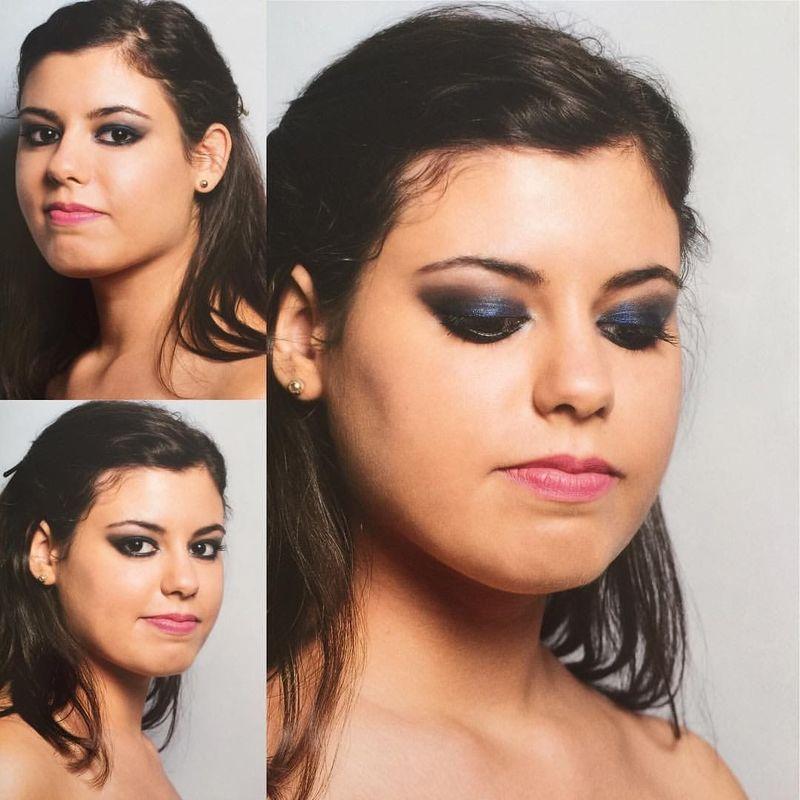 Sofia Ribeiro Make Up - Um smoky eye para a noiva que gosta e está habituada a usar uma maquilhagem mais carregada! Lábios suaves.