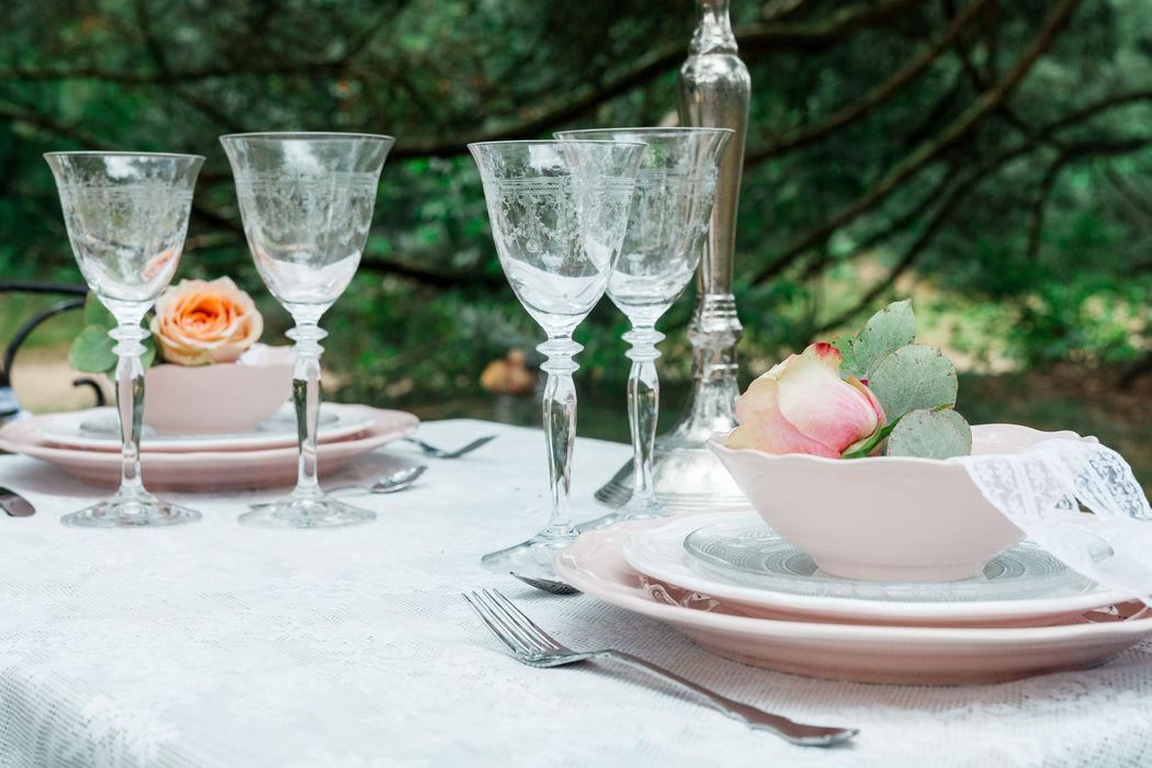 Romantic Forest Wedding, styled table