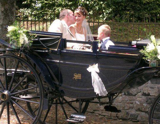 Beispiel: Hochzeitskutsche, Foto: Schlosshotel Friedewald.