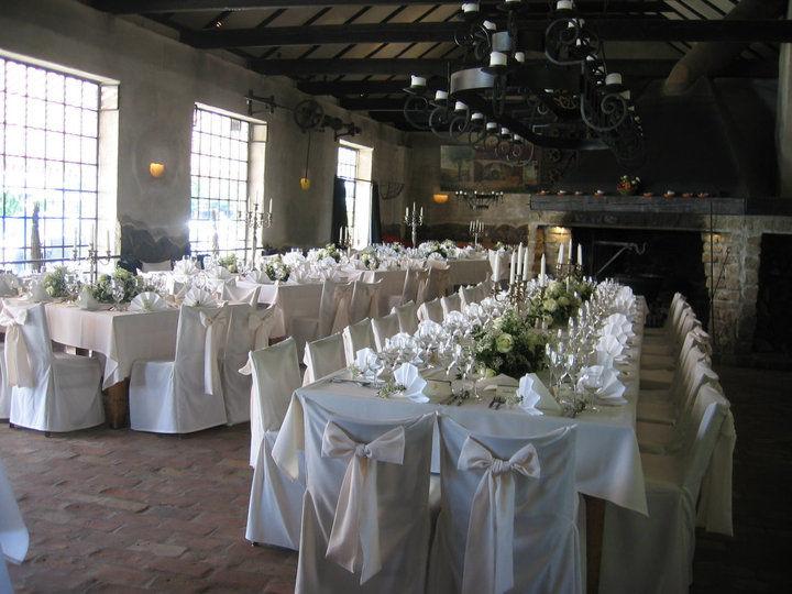 Beispiel: Hochzeitstafel in der Schmiede, Foto: Schloss Diedersdorf.