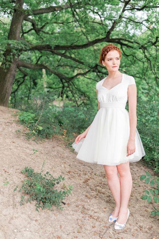 Kaa Couture modèle robe de mariée courte AMELIE