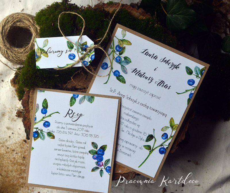 Zaproszenia Ślubne Owoce leśne