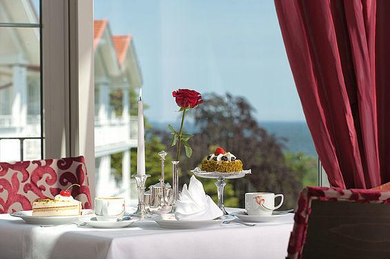 Beispiel: Ausblick aus dem Restaurant Belvedere, Foto: Travel Charme Strandidyll Heringsdorf.