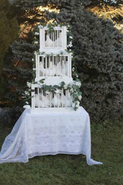 Beispiel: Wunderschöner Taubenkäfig, Foto: Hochzeitstauben.